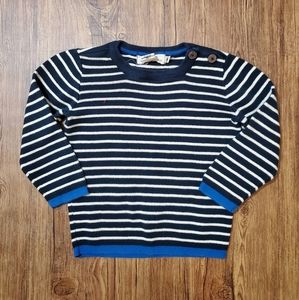 H&M Striped Sweater with Button Details (KIDS)